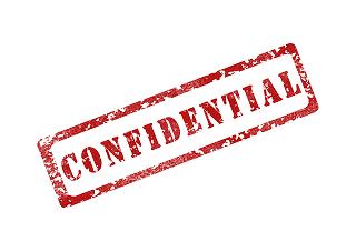 Confidential stamp.