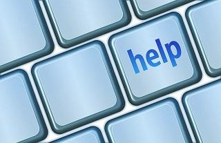 Help button on keyboard.